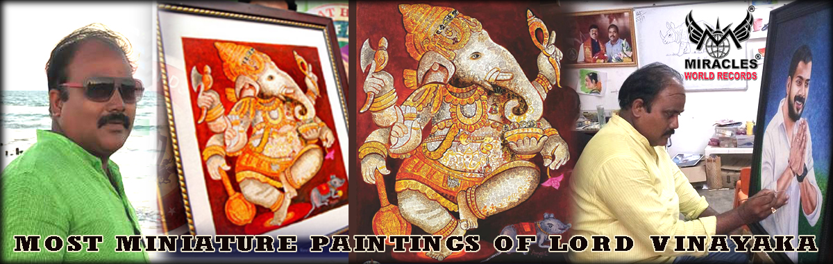 MOST MINIATURE PAINTINGS OF LORD VINAYAKA