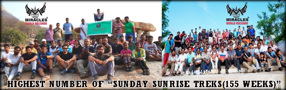 "HIGHEST NUMBER OF ""SUNDAY SUNRISE TREKS (155 WEEKS)""'"