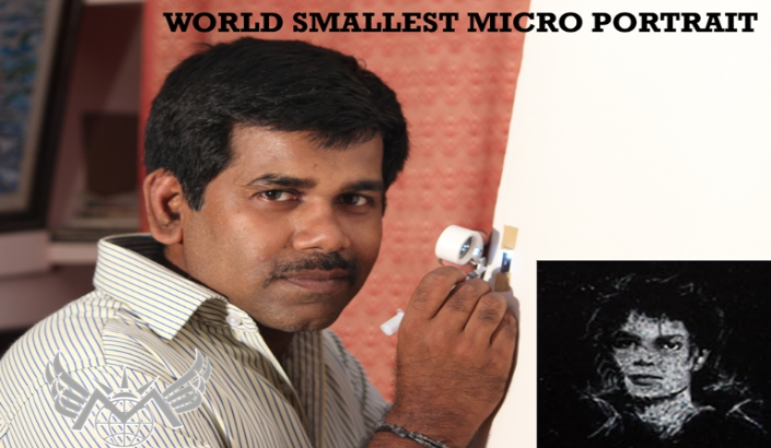 world smallest micro- portrait