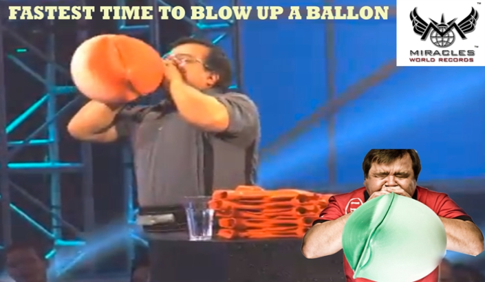 A00059 / 1   FASTEST TIME TO BLOW UP A BALLON A 100 FIRE HOSE