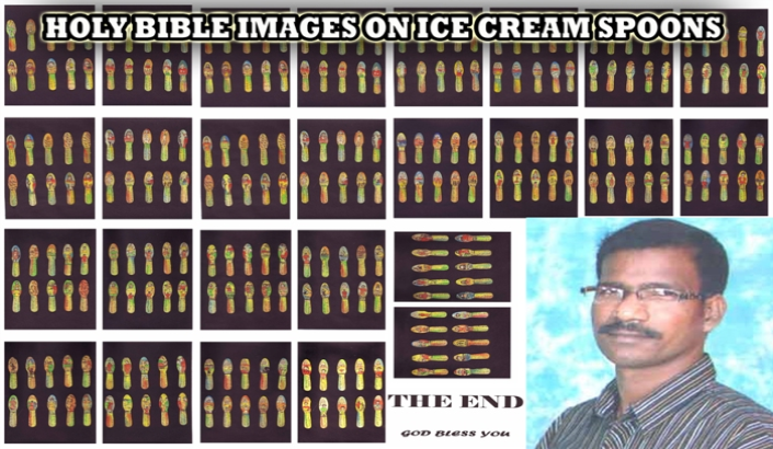 A00036  HOLY BIBLE IMAGES ON ICE CREAM SPOONS